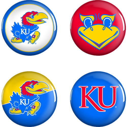 WinCraft University of Kansas Buttons 4-Pack