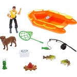 Tree House Kids Imagination Adventure Series Deluxe Angler Raft Accessory Set