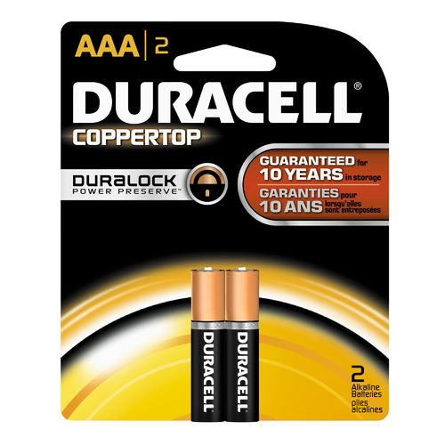 Duracell Coppertop AAA Batteries 2-Pack