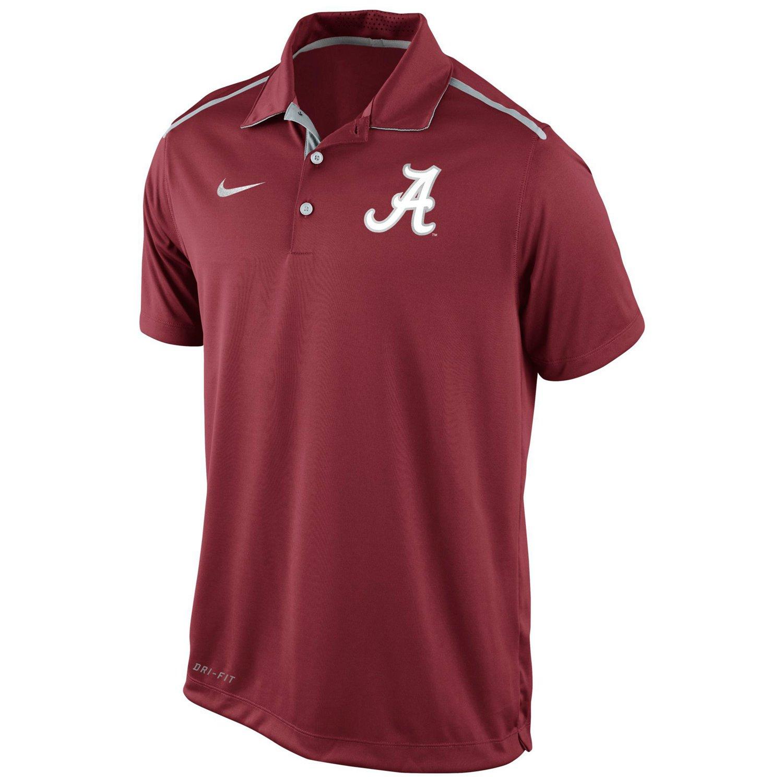Nike men 39 s university of alabama diamond elite polo shirt for Alabama crimson tide polo shirts