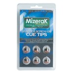 Mizerak™ Leather Screw-On Pool Cue Tips 6-Pack - view number 1