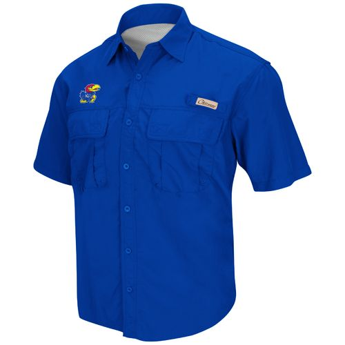 Colosseum Athletics Men's University of Kansas Swivel Fishing Shirt