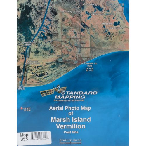 Standard Mapping 355 Marsh Island - Vermilion Louisiana Folded Map