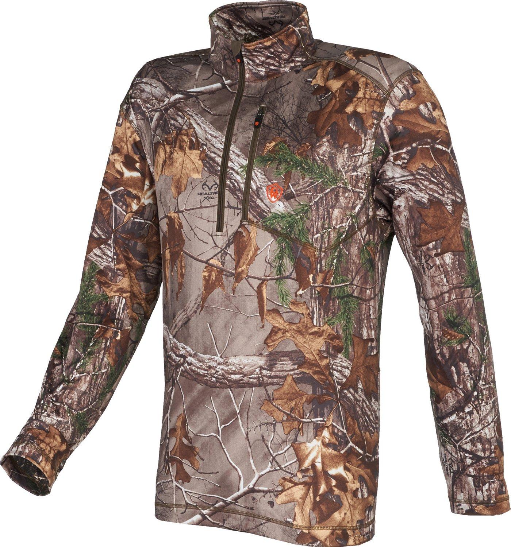 Game Winner® Men's Fulton Camo 1/4 Zip Long Sleeve Shirt