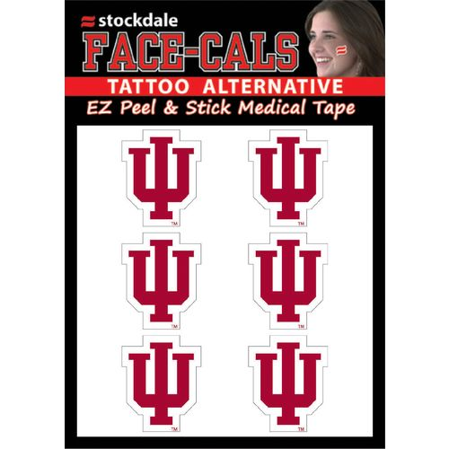 Stockdale Indiana University 6-Piece Face Decal