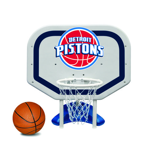 Poolmaster® Detroit Pistons Pro Rebounder Style Poolside Basketball Game