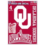 WinCraft University of Oklahoma Multiuse Decals 4-Pack - view number 1