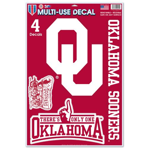 WinCraft University of Oklahoma Multiuse Decals 4-Pack