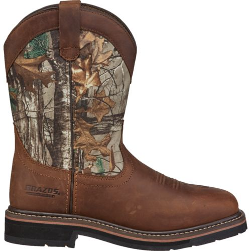 Brazos Men's Bandero NS Realtree Xtra Wellington Work Boots