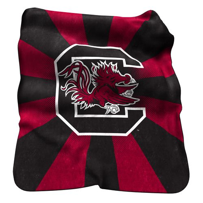 Logo University of South Carolina Raschel Throw