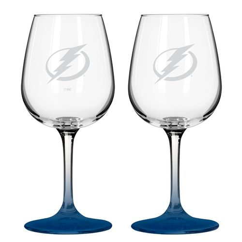 Boelter Brands Tampa Bay Lightning 12 oz. Wine Glasses 2-Pack