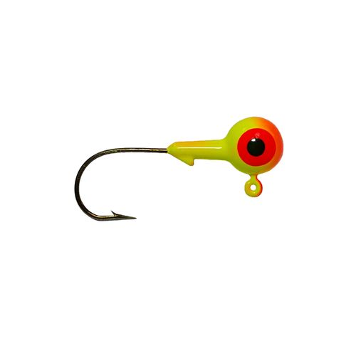 Big Bite Baits 2-Eye 2-Color Round Jigheads 10-Pack