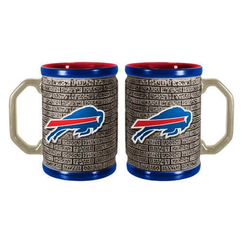 Boelter Brands Buffalo Bills Stone Wall 15 oz. Coffee Mugs 2-Pack