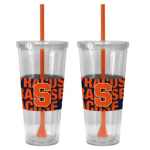 Boelter Brands Syracuse University Bold Neo Sleeve 22 oz. Straw Tumblers 2-Pack