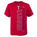 Majestic Boys' Texas Rangers Baseball Equipment Short Sleeve T-shirt