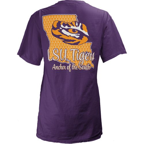 Three Squared Juniors' Louisiana State University State Monogram Anchor T-shirt