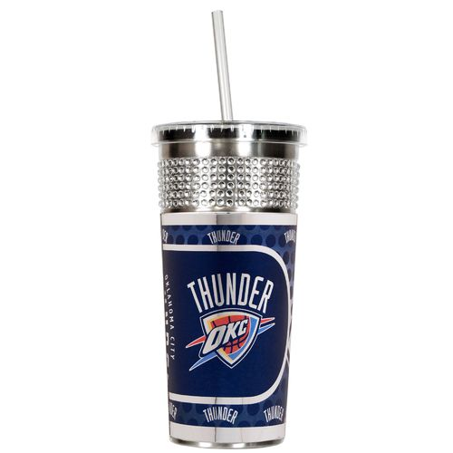 Great American Products Oklahoma City Thunder 16 oz. Bling Tumbler with Straw