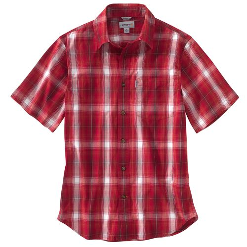 Carhartt Men's Essential Plaid Open Collar Short Sleeve