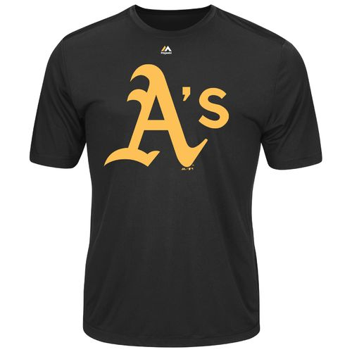 Majestic Men's Oakland Athletics Synthetic Official Logo T-shirt - view number 1