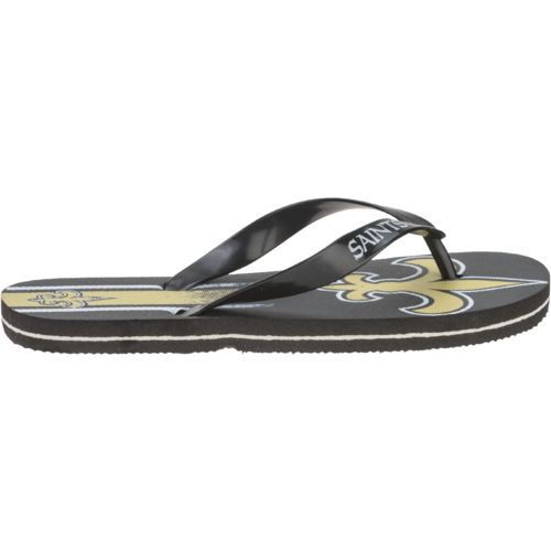 Forever Collectibles™ Kids' New Orleans Saints Wordmark Stripe Flip-Flops