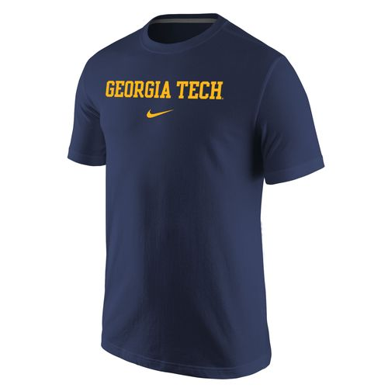 Nike Men's Georgia Tech Wordmark T-shirt