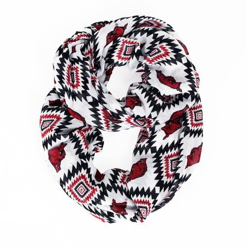 ZooZatz Women's University of Arkansas Southwest Infinity Scarf