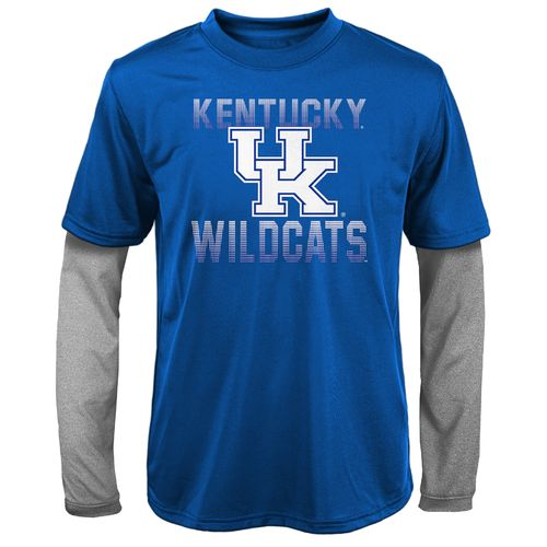 NCAA Boys' University of Kentucky Bleachers Double Layer Long Sleeve T-shirt