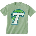 New World Graphics Men's Tulane University Alternate Graphic Short Sleeve T-shirt