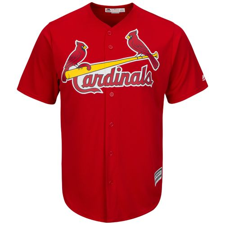 Majestic Men's St. Louis Cardinals Matt Adams #32 Cool Base Replica Jersey - view number 3