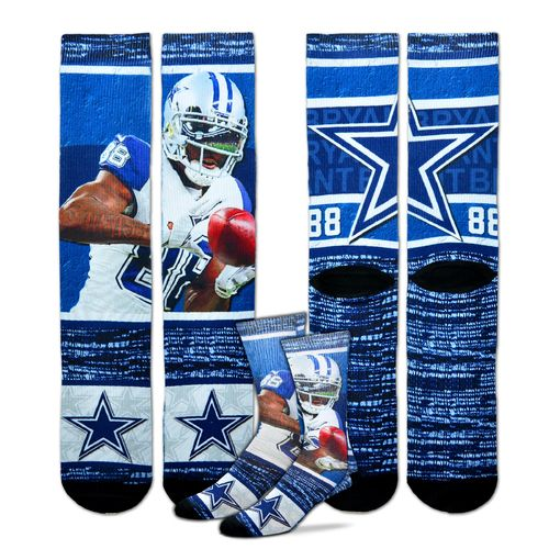 For Bare Feet Unisex Dallas Cowboys Dez Bryant Flashback Sublimated Socks
