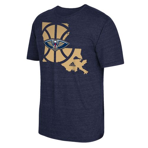 adidas™ Men's New Orleans Pelicans State Outline T-shirt