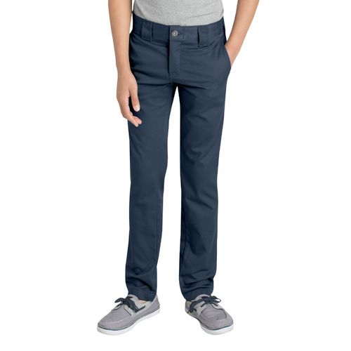 Display product reviews for Dickies Boys' Flex Skinny Fit Straight Leg Uniform Pant