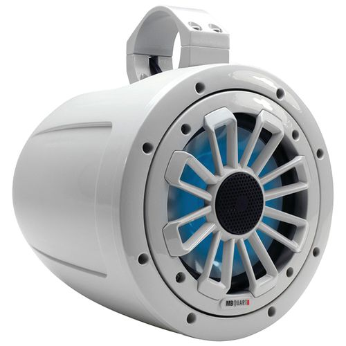 "MB Quart Nautic Series 120W 6-1/2"" 2-Way Wake Tower Marine Speaker with LED Illumination"
