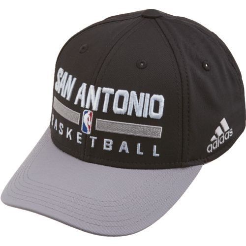 adidas Boys' San Antonio Spurs Practice Structured Adjustable Cap