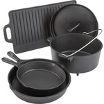 Outdoor Gourmet 5-Piece Cast-Iron Cookware Set - view number 1