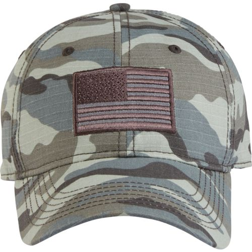 Display product reviews for Academy Sports + Outdoors Men's Americana Camo Twill Hat