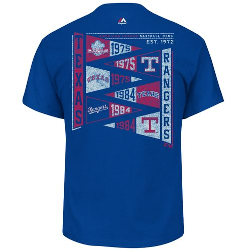 Majestic Men's Texas Rangers Wave the Pennant T-shirt