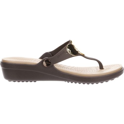 Crocs™ Women's Sanrah Embellished Wedge Flip-Flops