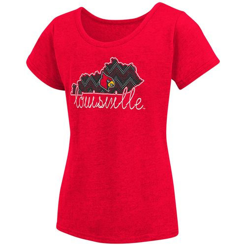 Colosseum Athletics™ Girls' University of Louisville Tissue 2017 T-shirt - view number 1