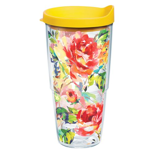 Tervis Fiesta Rose 24 oz Tumbler with Lid