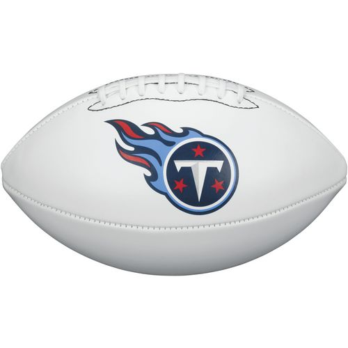 Wilson Tennessee Titans Team Logo Autograph Football