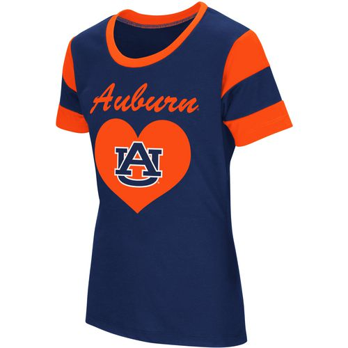 Colosseum Athletics Girls' Auburn University Bronze Medal Short Sleeve T-shirt