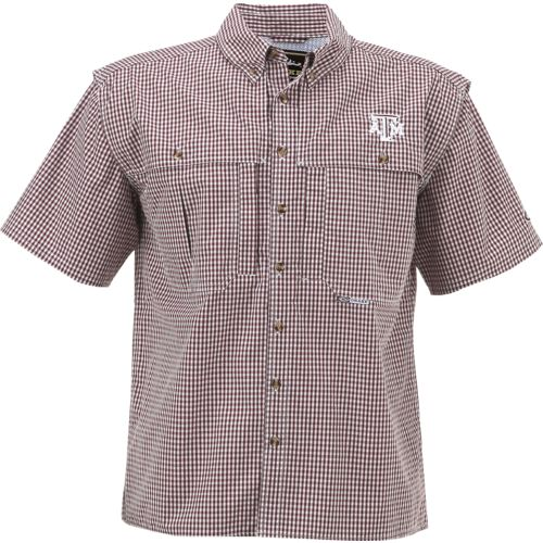 Drake Waterfowl Men's Texas A&M University Gameday Wingshooter's Short Sleeve Button-Down Sh