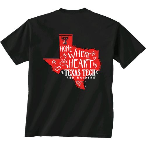 New World Graphics Girls' Texas Tech University Where the Heart Is Short Sleeve T-shirt