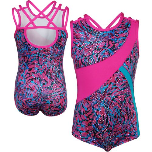 Capezio Girls' Future Star Printed Animal Jungle Strappy Leotard