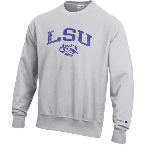 Champion Men's Louisiana State University Reverse Weave Crew Sweatshirt