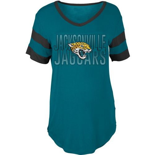 5th & Ocean Clothing Women's Jacksonville Jaguars Sleeve Stripe Fan T-shirt