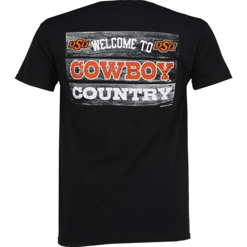 New World Graphics Men's Oklahoma State University Welcome Sign T-shirt