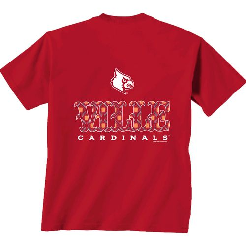New World Graphics Women's University of Louisville Comfort Color Initial Pattern T-shirt - view number 1