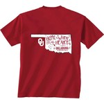 New World Graphics Girls' University of Oklahoma Where the Heart Is Short Sleeve T-shirt - view number 1